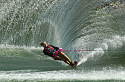 Skiing Art Photo Posters - Water Skiing Magic of Water 27 Poster by Bob Christopher