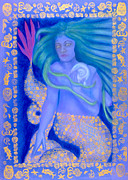 Goddess Birth Art Posters - Water Spirit Poster by Diana Perfect