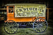 Horse And Cart Metal Prints - Water St. -  Chicago - The Salesman  Metal Print by Paul Ward