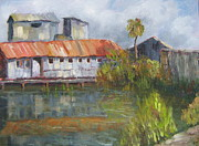 Florida Panhandle Painting Prints - Water Street Seafood Print by Susan Richardson