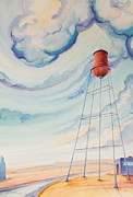 Water Tower Paintings - Water Tank I by Scott Kirby