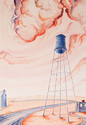 Water Tower Paintings - Water Tank II by Scott Kirby