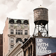 Old City Prints Prints - Water Towers 14 - New York City Print by Gary Heller