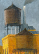 Water Towers Late Afternoon Print by Steve Dininno