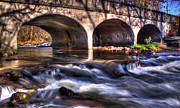 Tim Buisman Posters - Water under bridge Poster by Tim Buisman