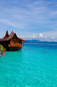 Fototrav Print - Water village on Mabul island Borneo Malaysia