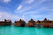 Fototrav Print - Water village on Mabul island Sipadan Borneo Malaysia