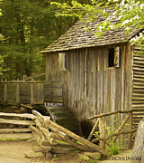 Old Barns Photo Originals - Water Wheel 1 by Chris Deletzke aka Sparkling Clean Productions