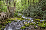 Smokey Mountains Prints - Water Wheel Print by Todd Bielby