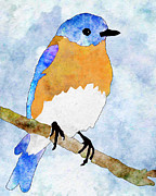Denise Beverly - Watercolor Bluebird