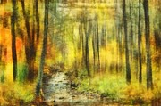 Autumn Photographs Prints - Watercolor Fall Print by Kathy Jennings