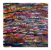 Dark Energy Painting Originals - Watercolor Textile Pattern by Melinda Fawver