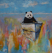 Giant Panda Posters - Watercolors Poster by Michael Creese