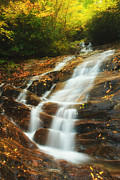 Gatlinburg Framed Prints - Waterfall @ Sams Branch Framed Print by Sai Chandrasekharan