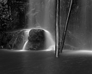 Monochrome Prints - Waterfall 06 Print by Colin and Linda McKie
