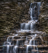 Falling Water Creek Prints - Waterfall 2 Print by Scott Norris