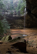 Water Falls Photos - Waterfall At Ash Cave by Dale Kincaid