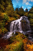 Thankful Prints - Waterfall at Rest and Be Thankful. Scotland Print by Jenny Rainbow
