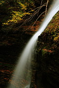 Watkins Glen State Park Prints - Waterfall at Watkins Glen Print by Jetson Nguyen