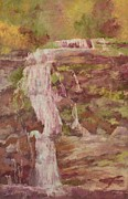 Works Pastels - Waterfall by Barbara Smeaton