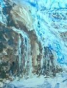 Waterfalls Paintings - Waterfall  by Bev Morgan