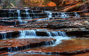 Passages Prints - Waterfall Cascade North Creek Print by Bob Christopher