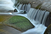 Moss Green Prints - Waterfall Close Up Print by Robert Harmon