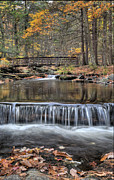 Golden Pond Framed Prints - Waterfall - George Childs State Park Framed Print by Paul Ward