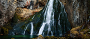 Water Flowing Framed Prints - Waterfall in Austria Panorama Framed Print by Sabine Jacobs