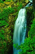 Tumbling Posters - Waterfall In Hood River Oregon Poster by Jeff  Swan