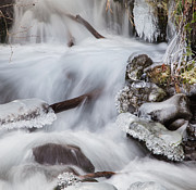 Frozen Water Posters - Waterfall Jewels Poster by Angie Vogel