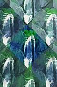 Steve Ohlsen - Waterfall Kaleidoscopic Abstract