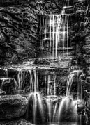 Monochrome Framed Prints - Waterfall Framed Print by Scott Norris