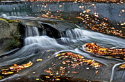 Falling Water Creek Prints - Waterfall Simplicity Print by Robert Harmon