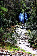 Gatlinburg Tennessee Prints - Waterfall Print by Susie Weaver