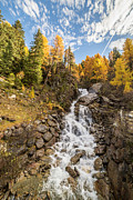 Autumn Leaf On Water Prints - Waterfall Print by Thomas Zagler