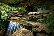 Falling Water Creek Prints - Waterfall Print by Tom Mc Nemar