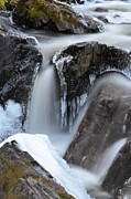 Zach Edlund Prints - Waterfall with Icicles Print by Zach Edlund