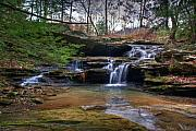 County Park Prints - Waterfalls Cascading Print by Douglas Barnett