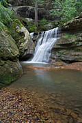 Water Falls Photos - Waterfalls In Hocking Hills by Dale Kincaid