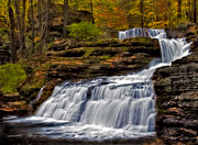 Dingmans Falls Photos - Waterfalls In The Fall by Susan Candelario
