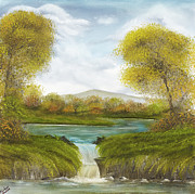 Waterfalls Paintings - Waterfalls by Premierlight Images