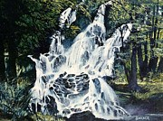 Waterfalls Paintings - Waterfalls by Robert Sankner