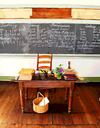 Waterford School Teacher's Desk Print by Larry Oskin