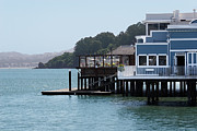 Sausalito Art - Waterfront dining by Jo Ann Snover