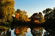Linda Kloster - Waterfront Fall Scene