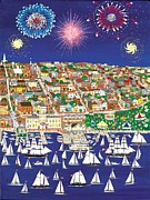 4th July Paintings - Waterfront Festival by Patricia Palermino