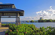 Port Credit Prints - Waterfront Gazebo Print by Charline Xia