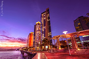 Hyatt Hotel Prints - Waterfront Print by Jason Khan