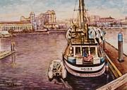 Victoria Painting Originals - Waterfront  by Paul Ros
